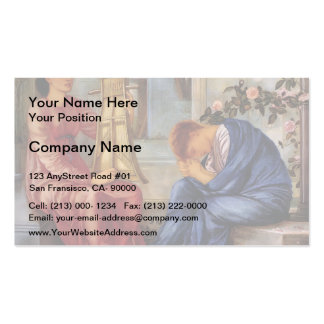 Edward Burne-Jones- The Lament Business Card Template
