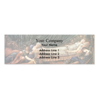 Edward Burne-Jones- The Sleaping Beauty Business Card Template