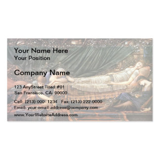 Edward Burne-Jones- The Sleaping Beauty Business Card