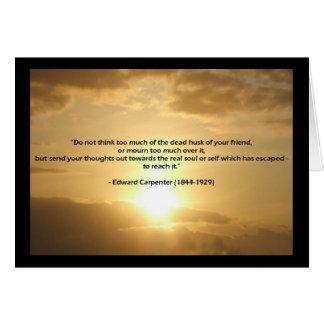 Edward Carpenter Quote Sympathy Card