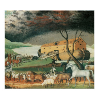 Edward Hicks Noah's Ark Poster