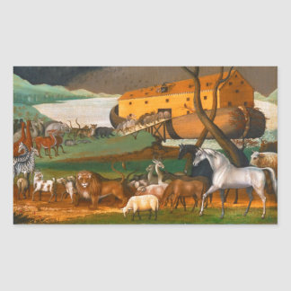 Edward Hicks Noah's Ark Rectangular Sticker