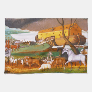 Edward Hicks Noah's Ark Tea Towel