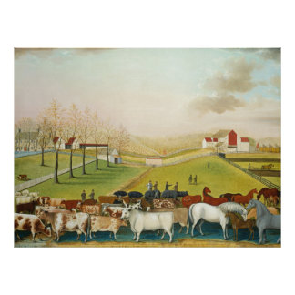 Edward Hicks - The Cornell Farm Poster