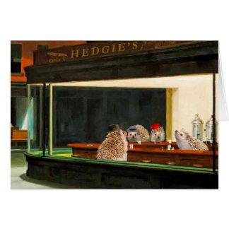 Edward Hopper's Nighthogs, Hedgehog Art Card