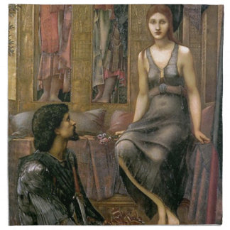 Edward -Jones- King Cophetua and the Beggar Maid Napkin