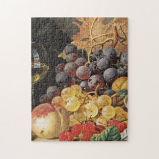 Edward Ladell - A Basket Of Grapes, Raspberries Jigsaw Puzzle