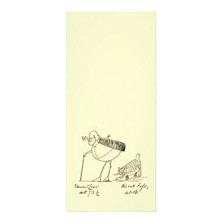 Edward Lear and Foss Rack Card Template