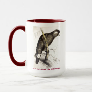 Edward Lear Bird Collection Baudins Cockatoo Mug