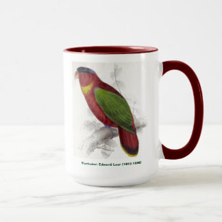 Edward Lear Bird Collection Black Capped Lory Mug