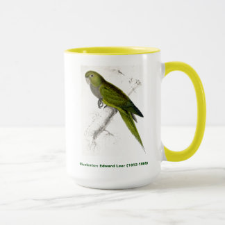 Edward Lear Bird Collection: Dwarf Parakeet Macaw Mug
