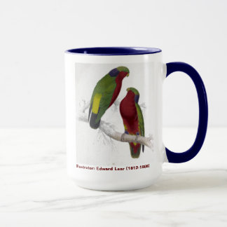 Edward Lear Bird Collection Kuhls Parakeet Mug