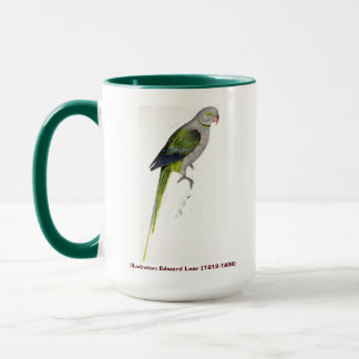 Edward Lear Bird Collection Pigeon Parakeet Mug
