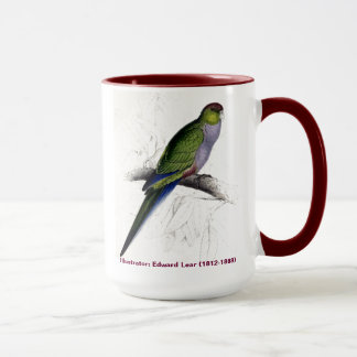 Edward Lear Bird Collection Red Capped Parakeet F Mug