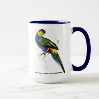 Edward Lear Bird Collection Red Capped Parakeet M Mug