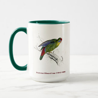 Edward Lear Bird Collection Red Fronted Parakeet Mug