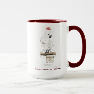 Edward Lear Bird Salmon-Crested Cockatoo Mug