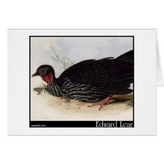 Edward Lear's Purplish Guan Greeting Card