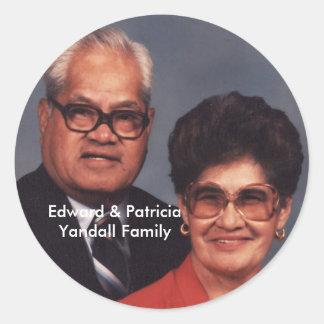 Edward & Patricia Yandall Family Stickers