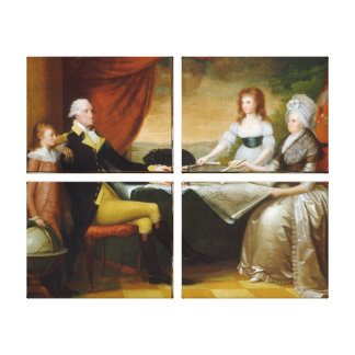 Edward Savage The Washington Family Stretched Canvas Print