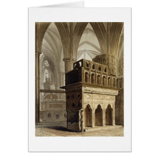 Edward the Confessor's Monument, plate M from 'Wes Card