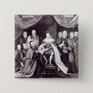 Edward VI Granting the Charter 15 Cm Square Badge
