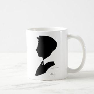 Edwardian Black and White Vintage Silhouette Coffee Mug