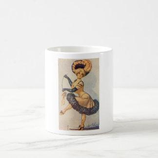 Edwardian Dancing Lady Coffee Mug