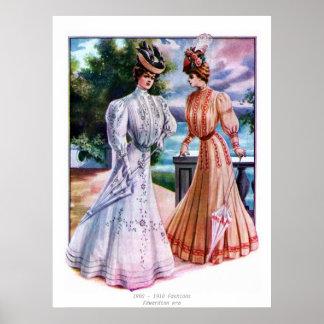 Edwardian Era Fashions Poster