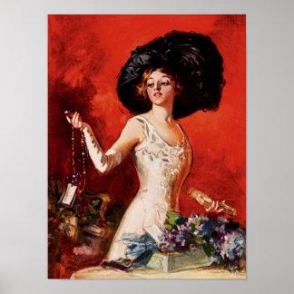Edwardian Glamor Girl Poster