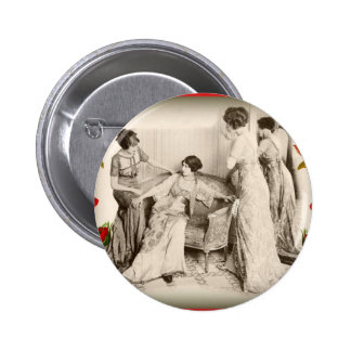 Edwardian Ladies with Roses Buttons