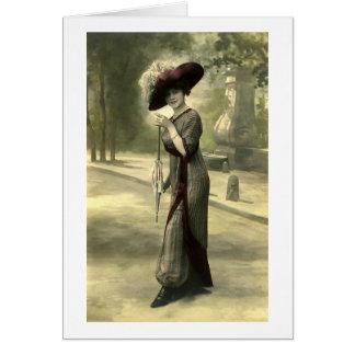 Edwardian Lady Greeting Card