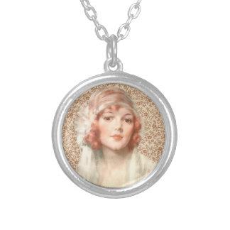 Edwardian Lady Round Pendant Necklace
