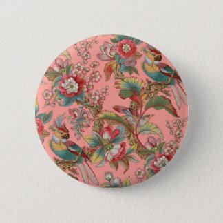 Edwardian Parrot ~ Duchess 6 Cm Round Badge