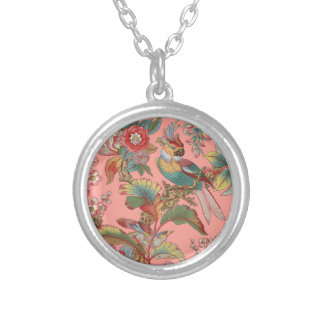 Edwardian Parrot ~ Duchess Silver Plated Necklace