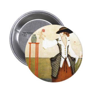 Edwardian Rose Pinback Button