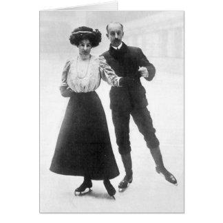 Edwardian Skaters Greeting Card