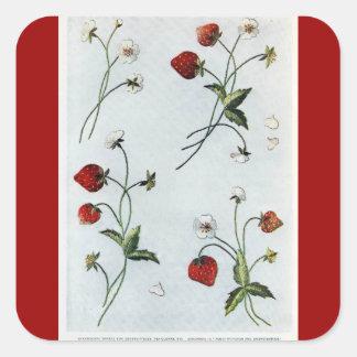 Edwardian Strawberries Sticker