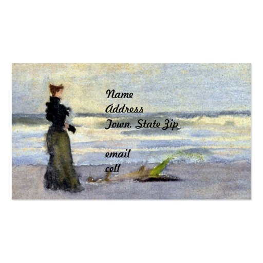 Edwardian Woman on Beach Pack Of Standard Business Cards