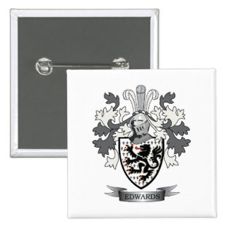 Edwards Family Crest Coat of Arms 15 Cm Square Badge