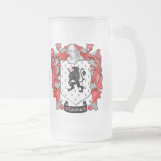 Edwards Family Crest - Wales-Canada Frosted Glass Beer Mug