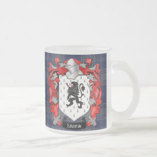 Edwards Family Crest - Wales Frosted Glass Coffee Mug