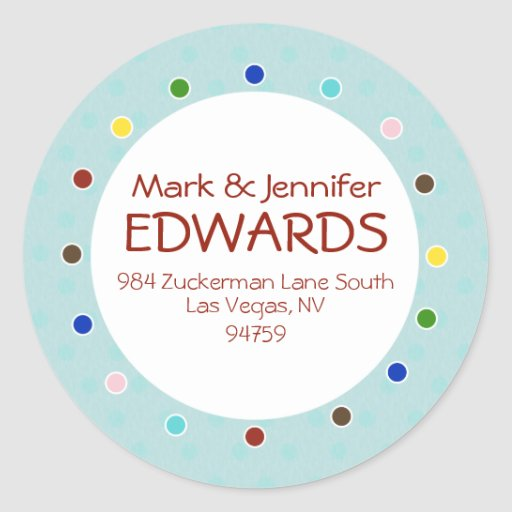 Edwards Return Address Label Stickers