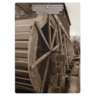 Edwards Water Wheel Sepia Clipboard