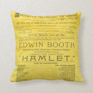 Edwin Booth Hamlet Program Cushion