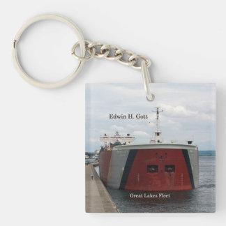 Edwin H. Gott square key chain