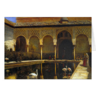 Edwin Lord Weeks- A Court in the Alhambra Card