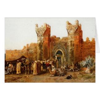 Edwin Lord Weeks- Gate of Shehal, Morocco Card