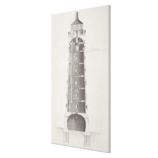 Edystone Lighthouse engraved by John Record (fl.17 Stretched Canvas Prints