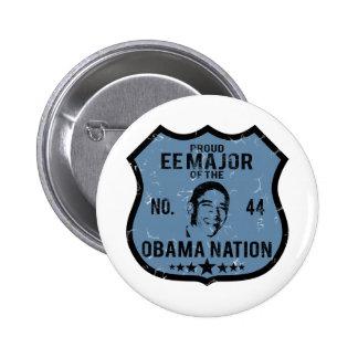 EE Major Obama Nation Pinback Buttons
